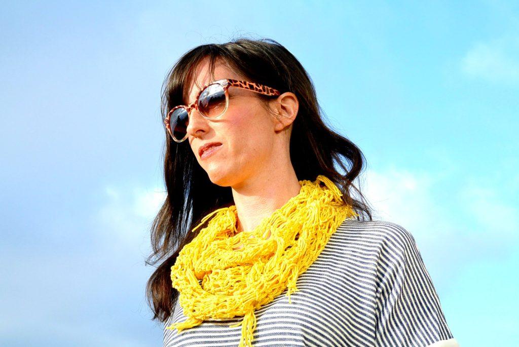 Beginner crochet infinity scarf