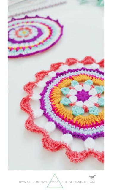 Bohemian crochet mandalas tutorial