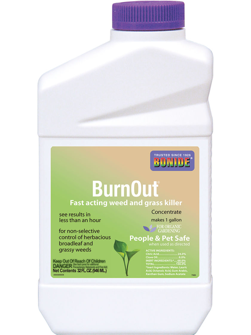 Burnout natural weed killer