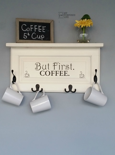 Coffee diy rack