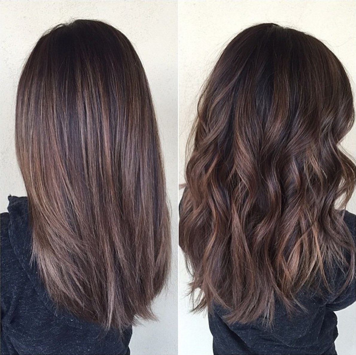 Cool brown balayage hairstyle