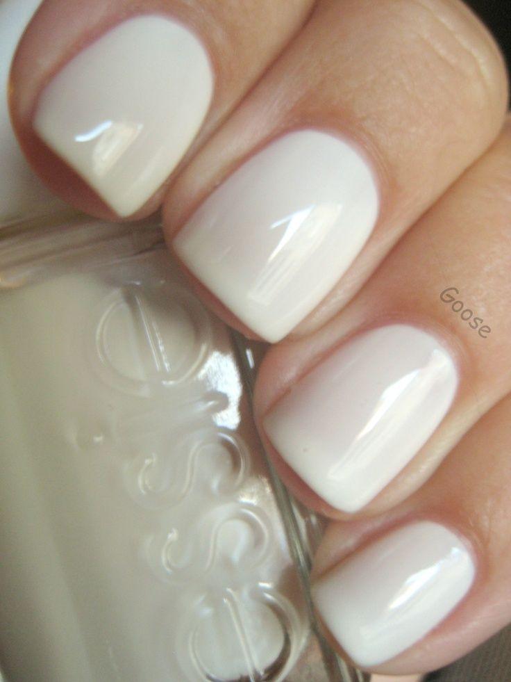 Cream nail manicure