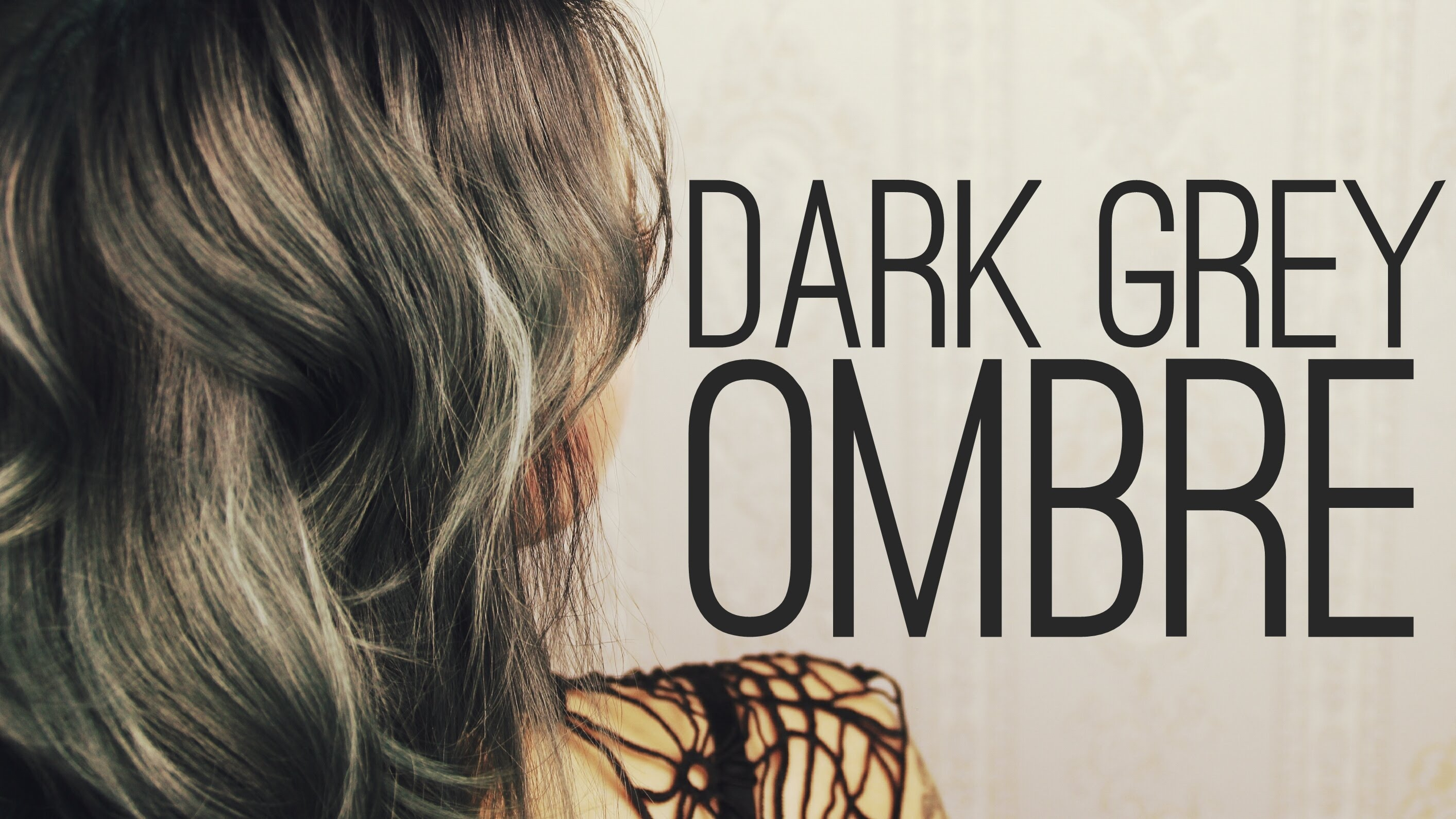 Dark grey ombre hairstyle