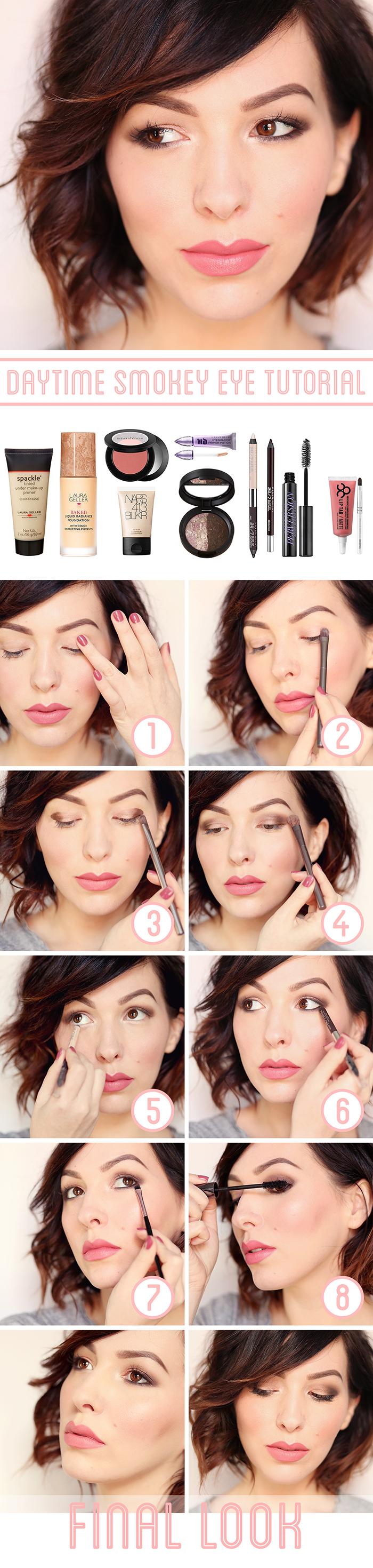 Daytime smokey eye tutorial