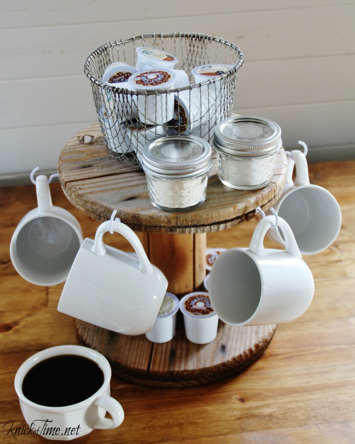 Diy coffee rack