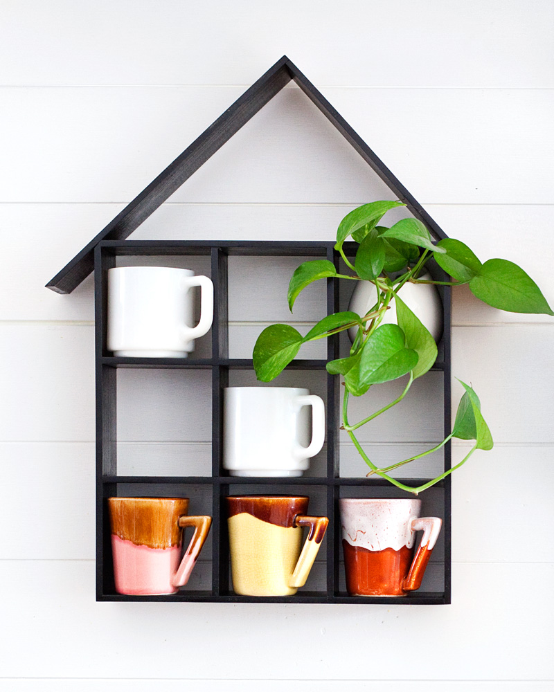 Diy coffee rack shelf