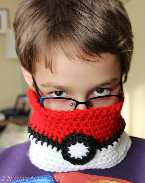 Diy crochet pokemon kids cowl