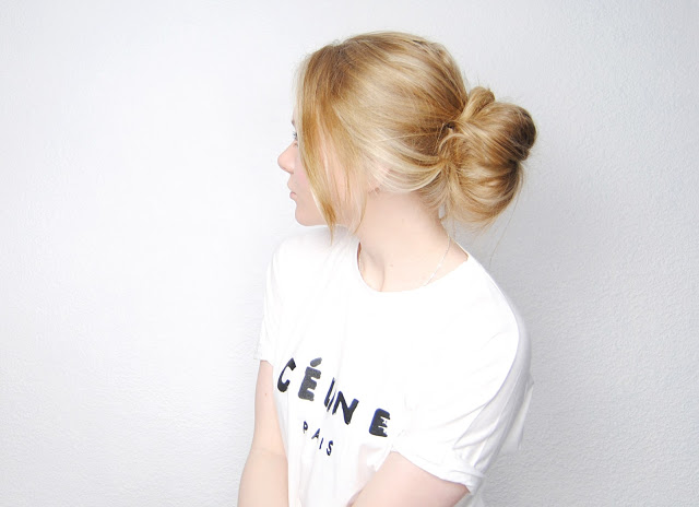 Diy low messy hair bun