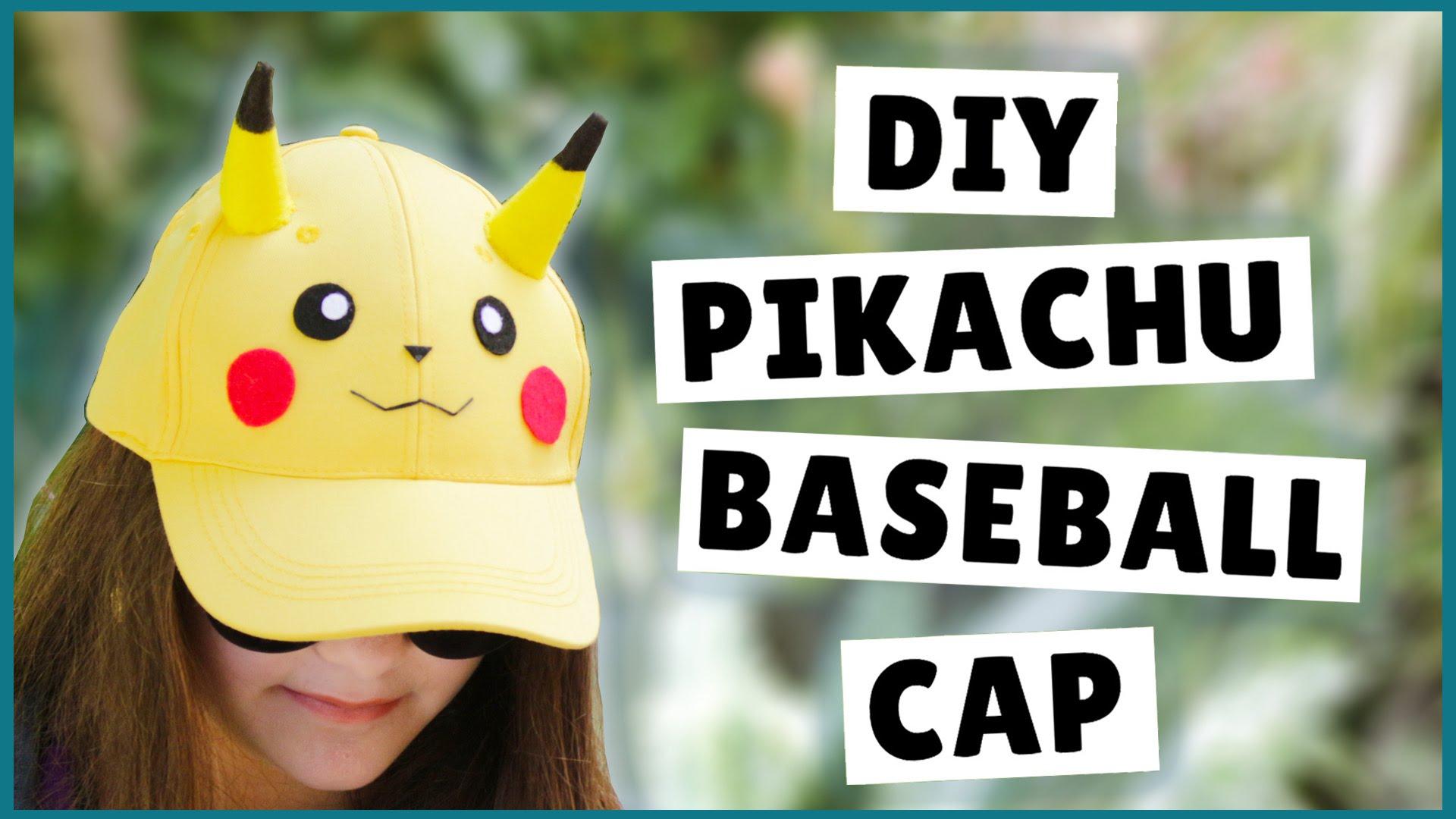 Diy pikachu baseball cap
