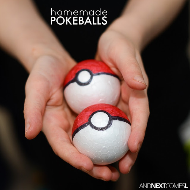 Diy pokeballs for kids homemade pokemon toys square