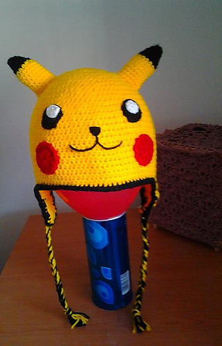 Diy pokemon crochet hat
