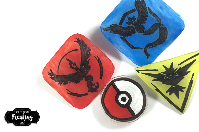 Diy pokemon go team pins