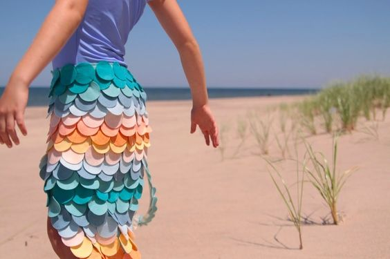 Diy scalloped mermaid tail