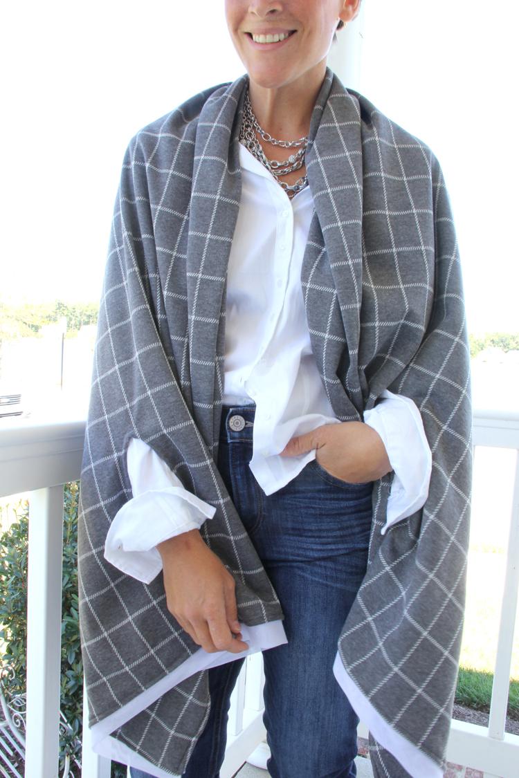 Diy scarf poncho