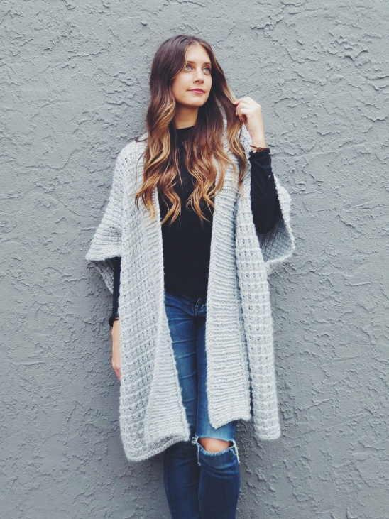Diy sweater poncho