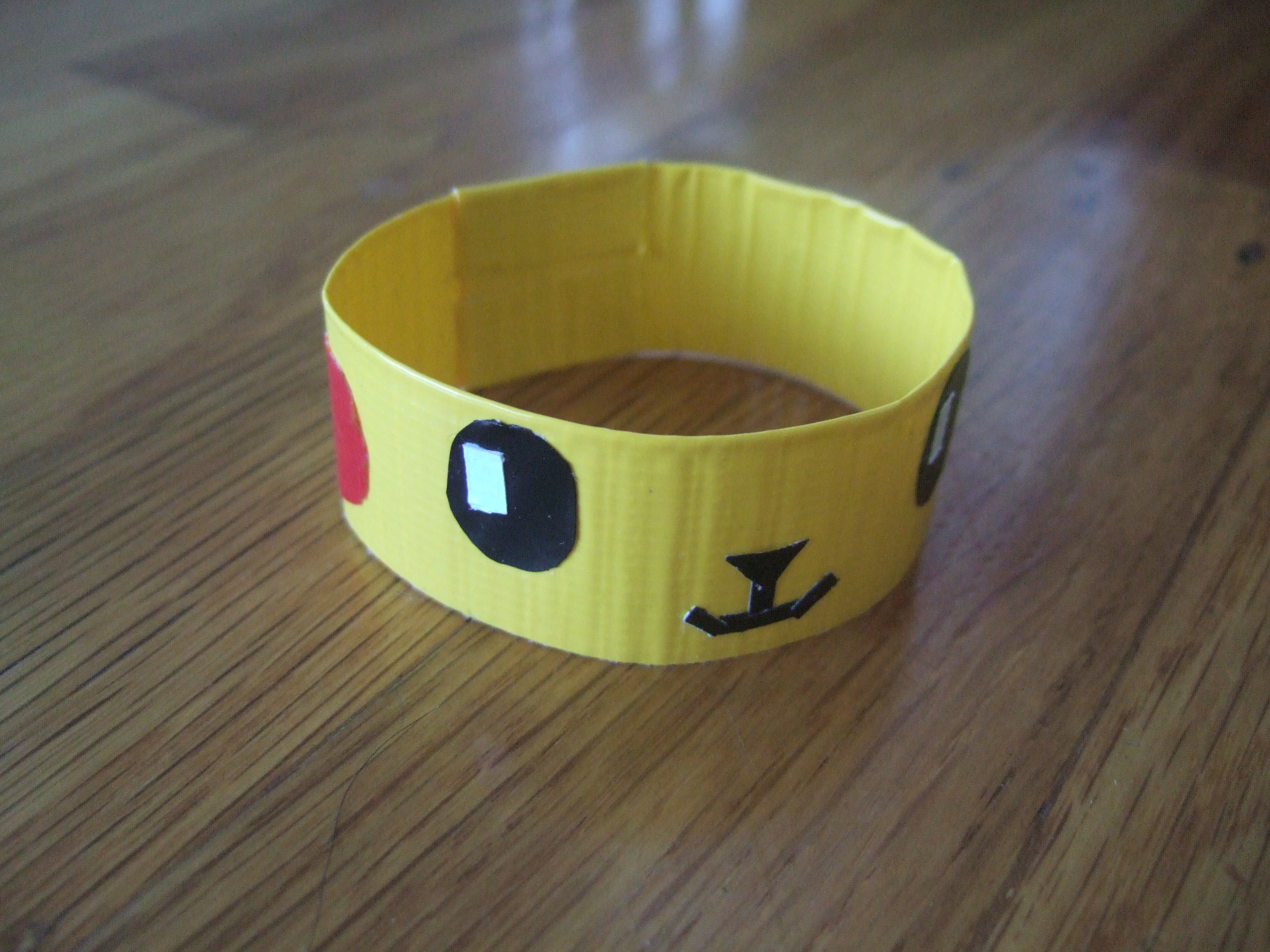 Duct tape pikachu bracelet diy