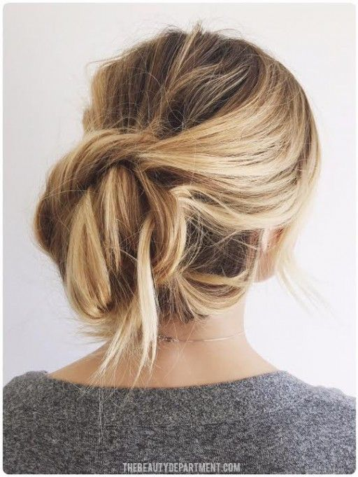 Easy messy bun updo