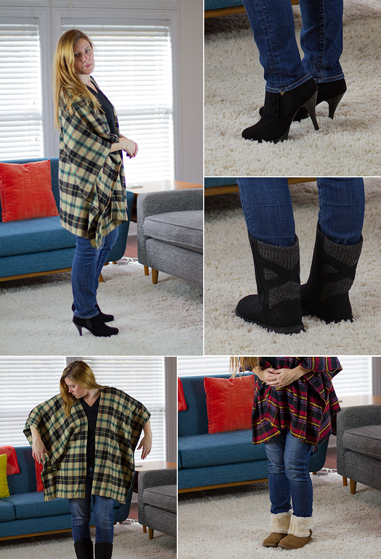 Flannel poncho tutorial