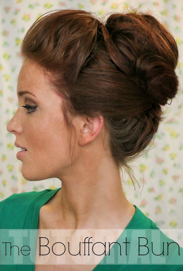 Freckled fox hair tutorial the bouffant bun summer winter fall spring long hair tutorial pin1
