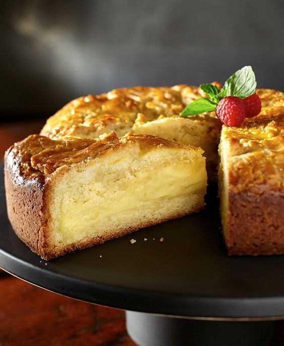 French butter custard cake