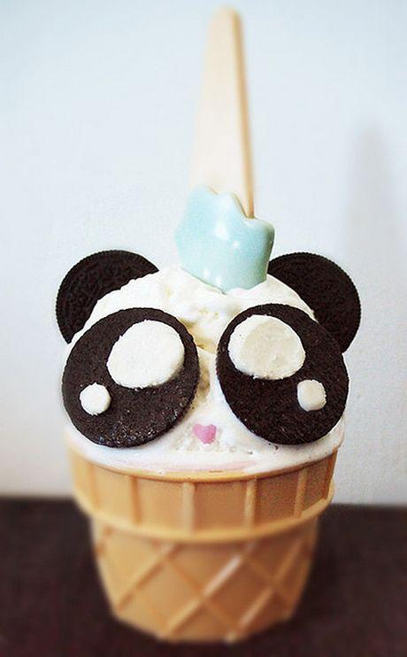 Ice cream cake panda