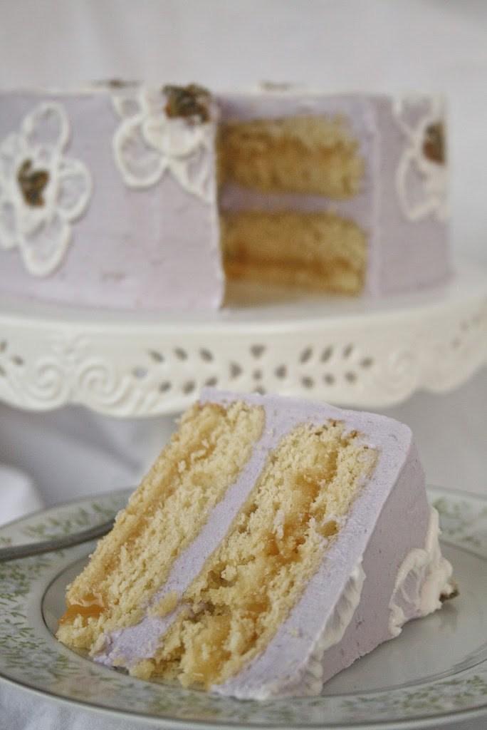 Lavender chamomille cake