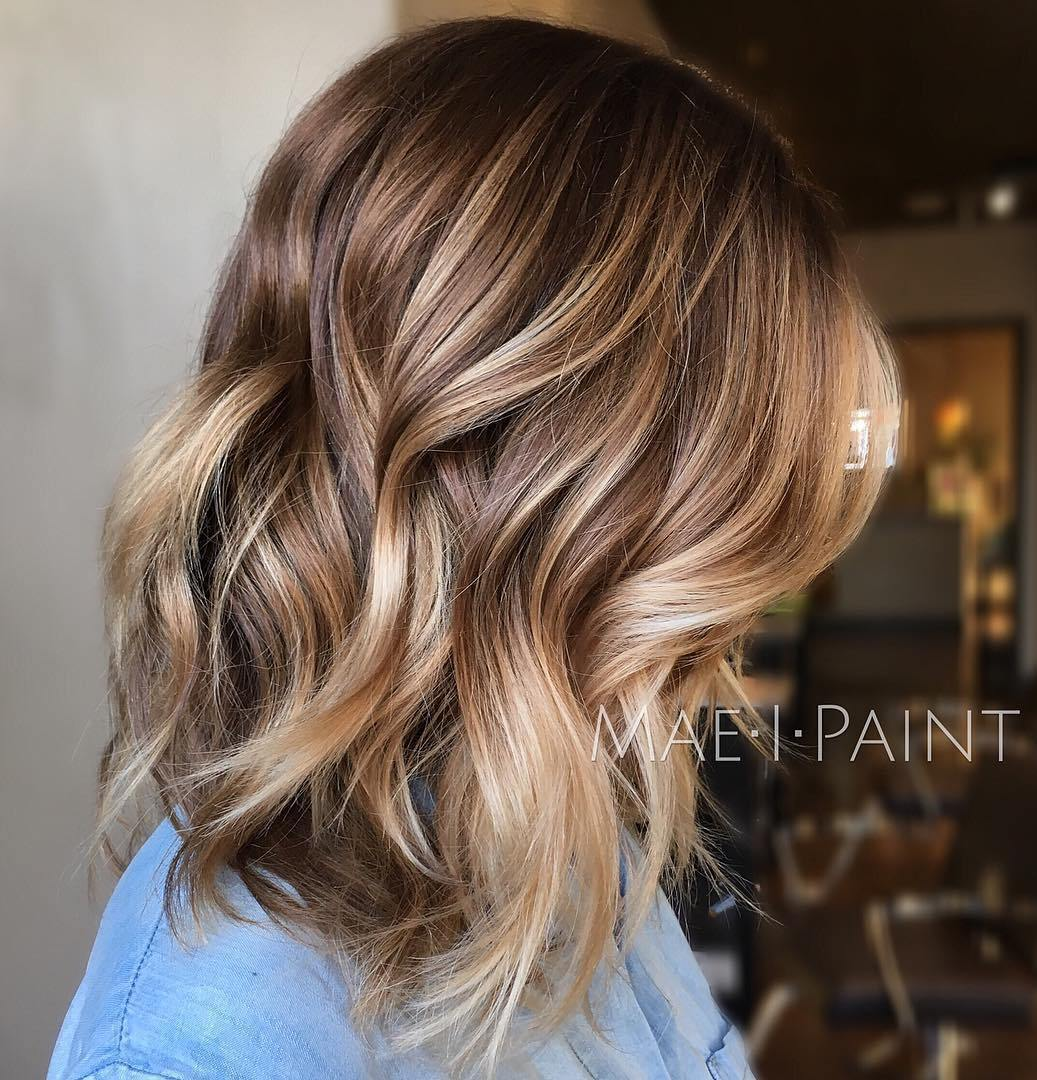 Light brown balayage hairstyle