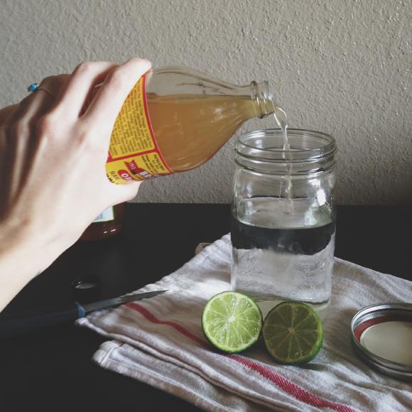 Lime vinegar natural weed killer