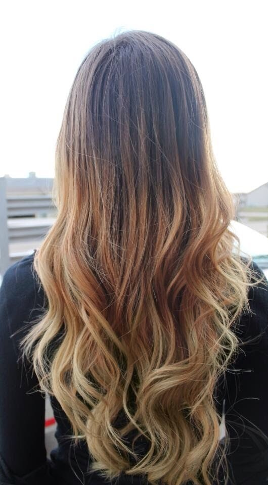 Long ombre blonde brown