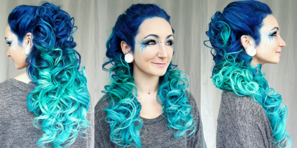 Mermaid ombre hair tutorial