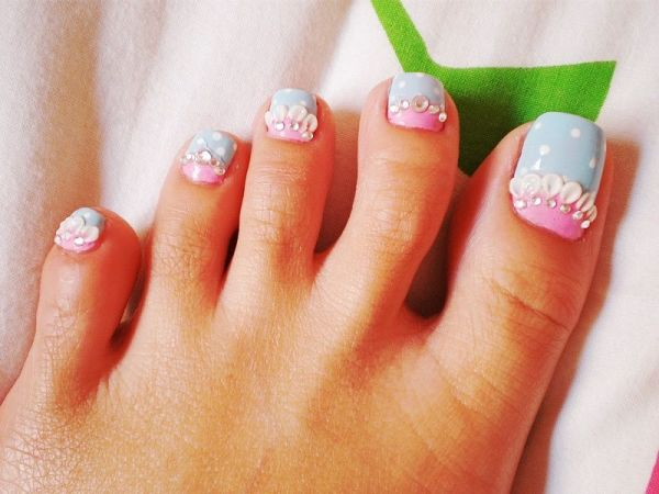 Mermaid toe nail designs - Pedicures Just Got Better With These 50 Cute Toe Nail Designs!