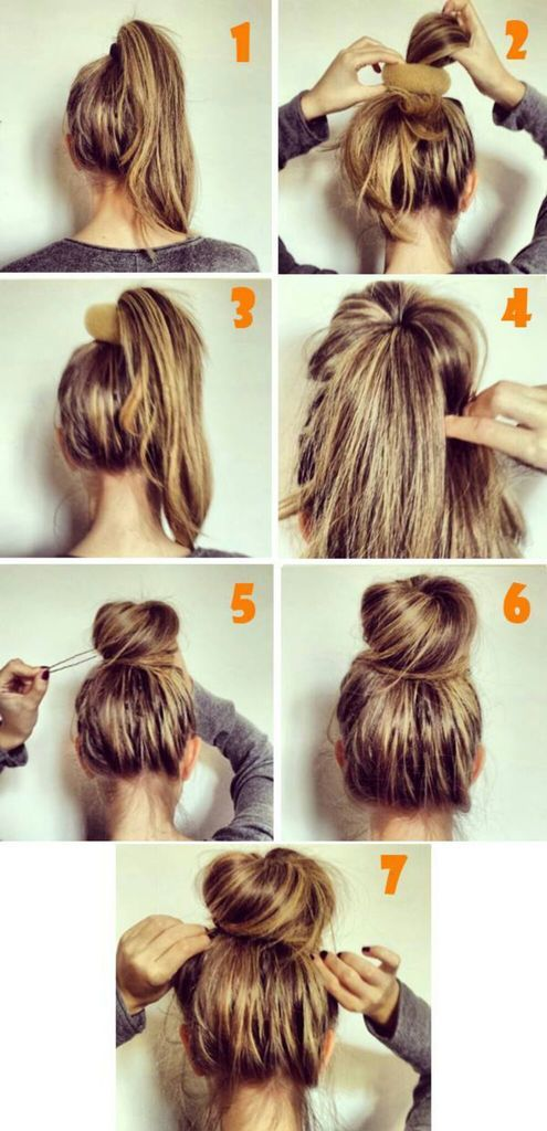 Messy bun hair tutorial