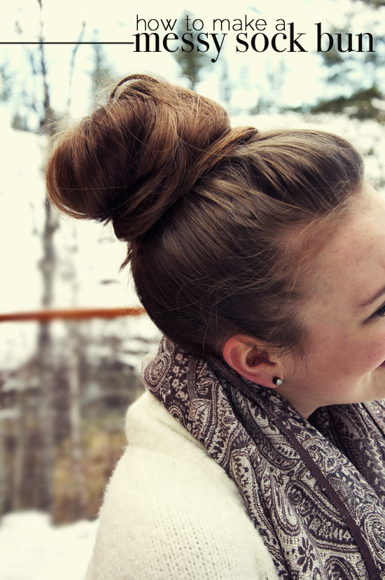 Messy sock bun diy
