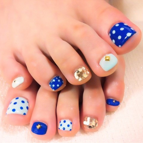 Multi texture toe nail design - Pedicures Just Got Better With These 50 Cute Toe Nail Designs!