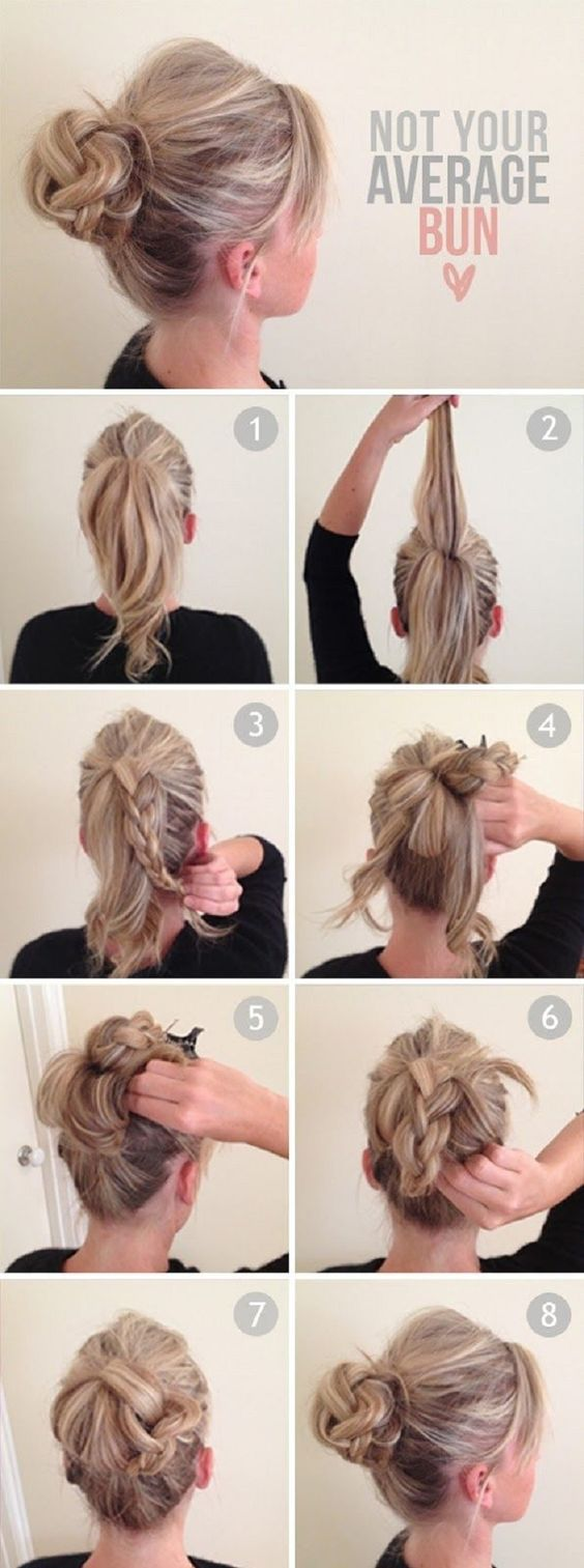 Not your average messy bun tutorial