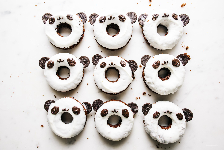 Panda chocolate doughnuts