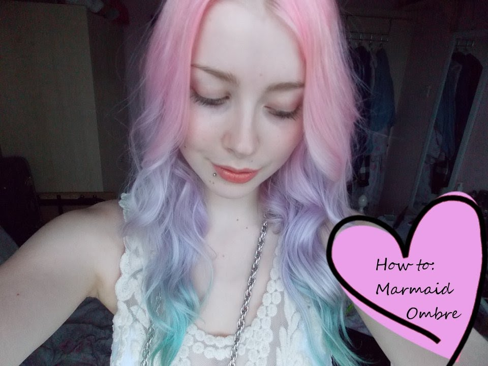 25 ombr hair tutorials pastel mermaid ombre hair solutioingenieria Choice Image