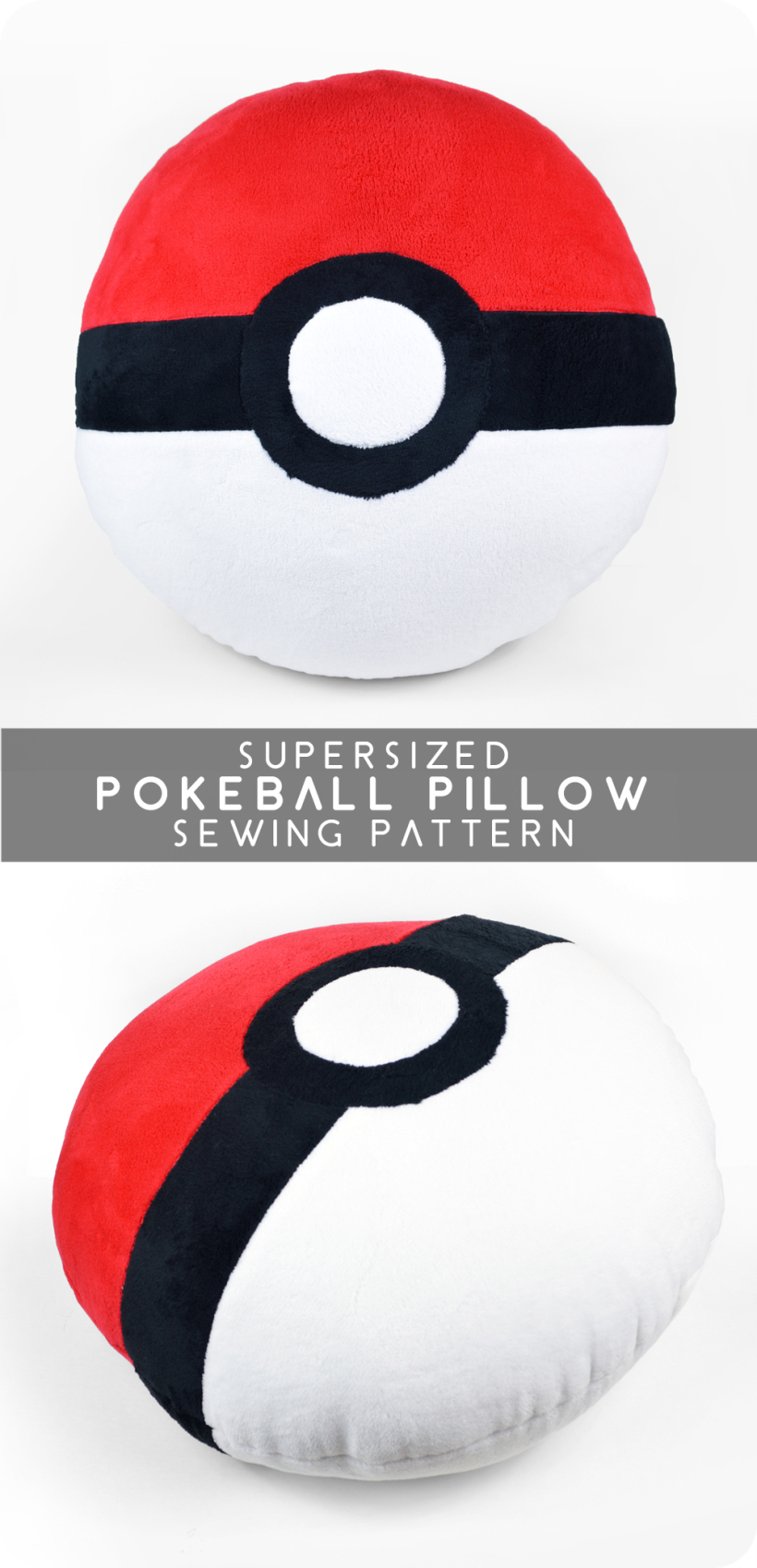Pokeball cushion diy