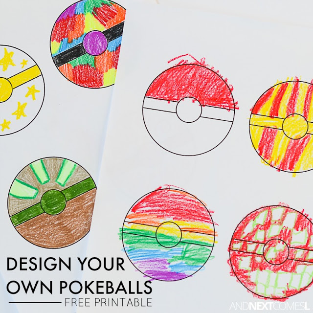 Pokeballs coloring free printable for kids pokemon square