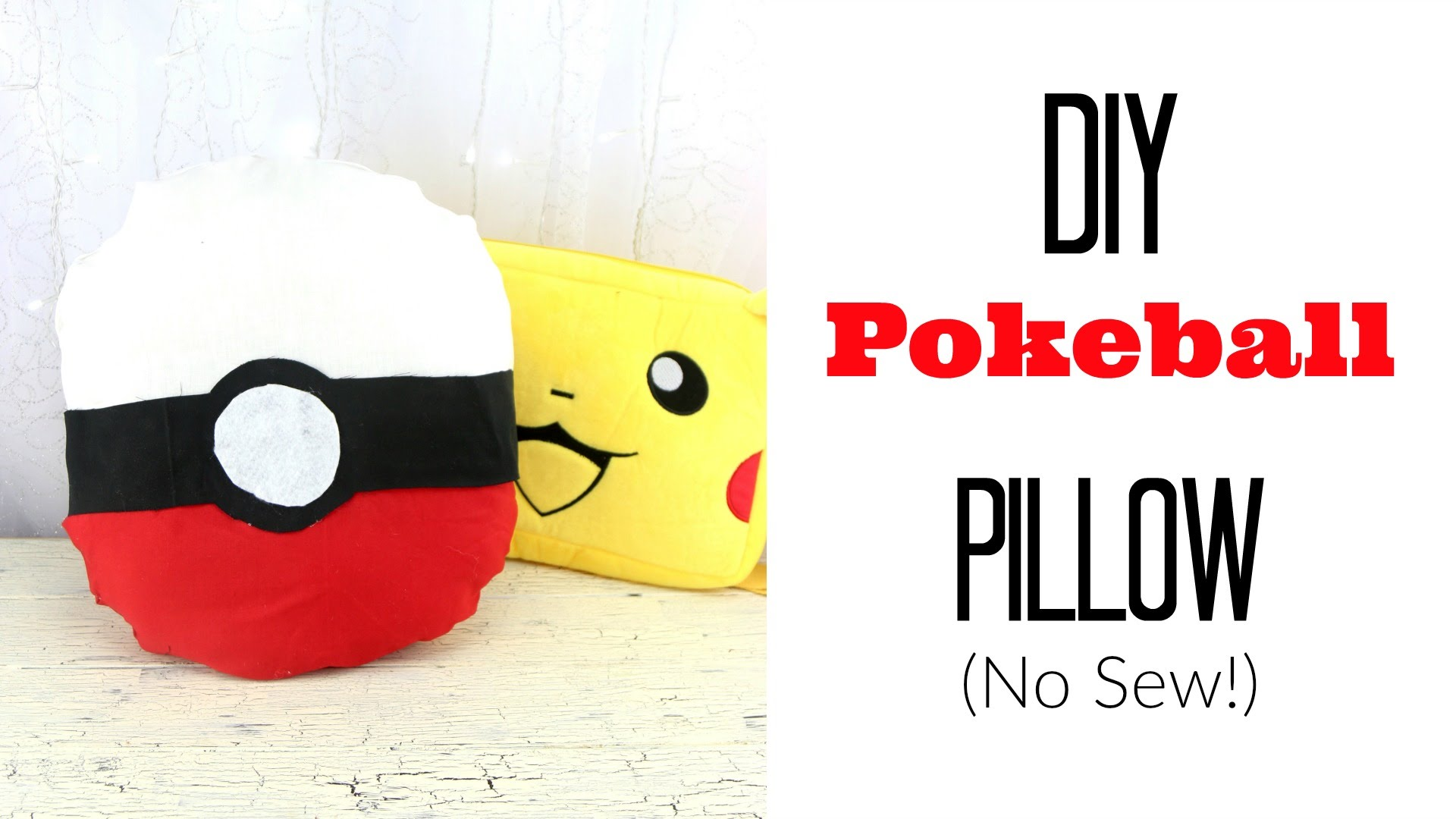 Pokemon pillow diy