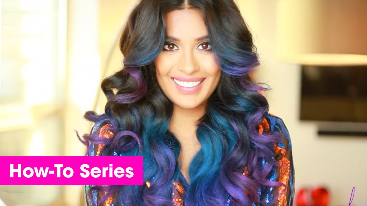 Purple blue temporary ombre