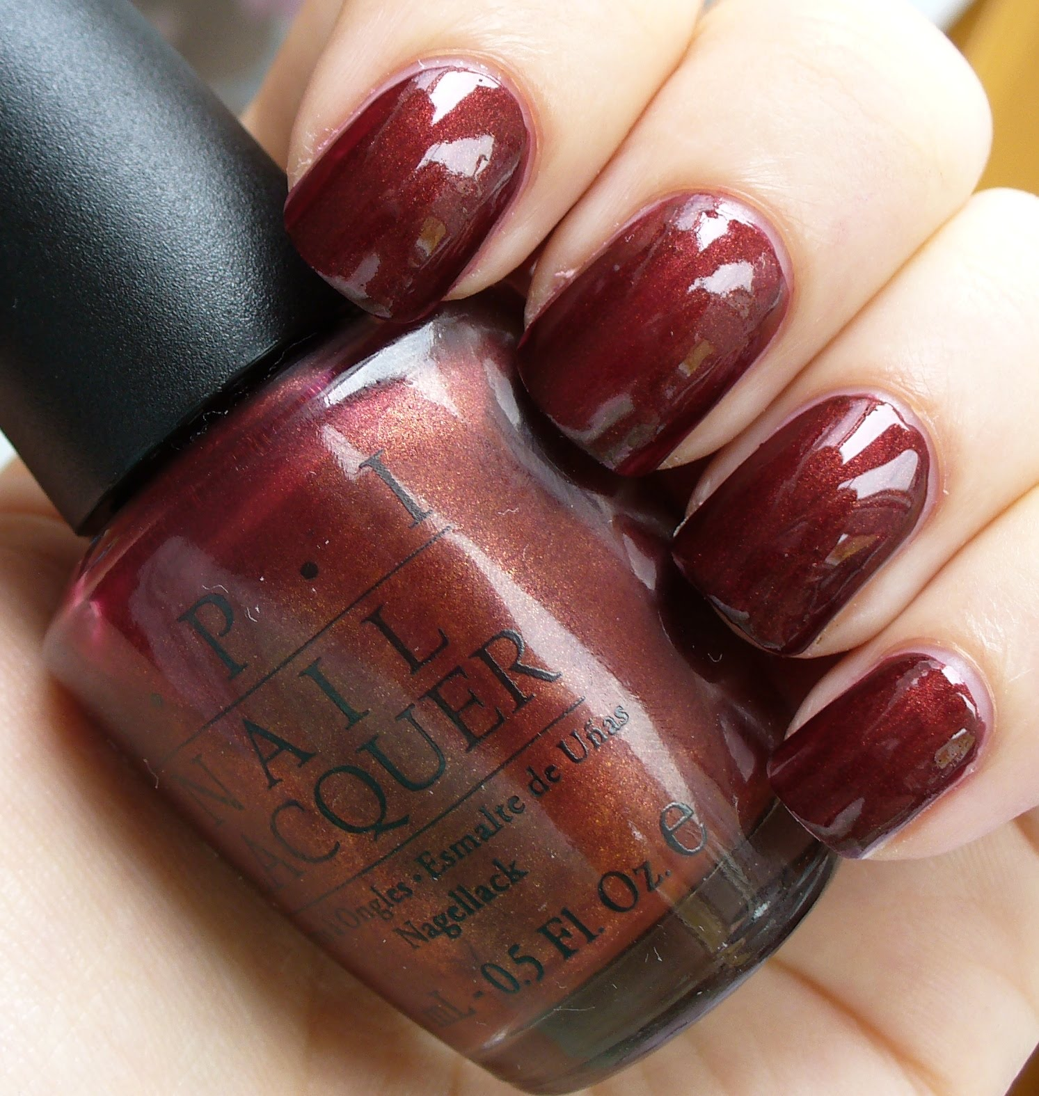 Red nail polish lexie