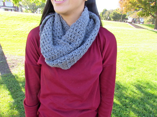 Same stitch crochet infinity scarf tutorial