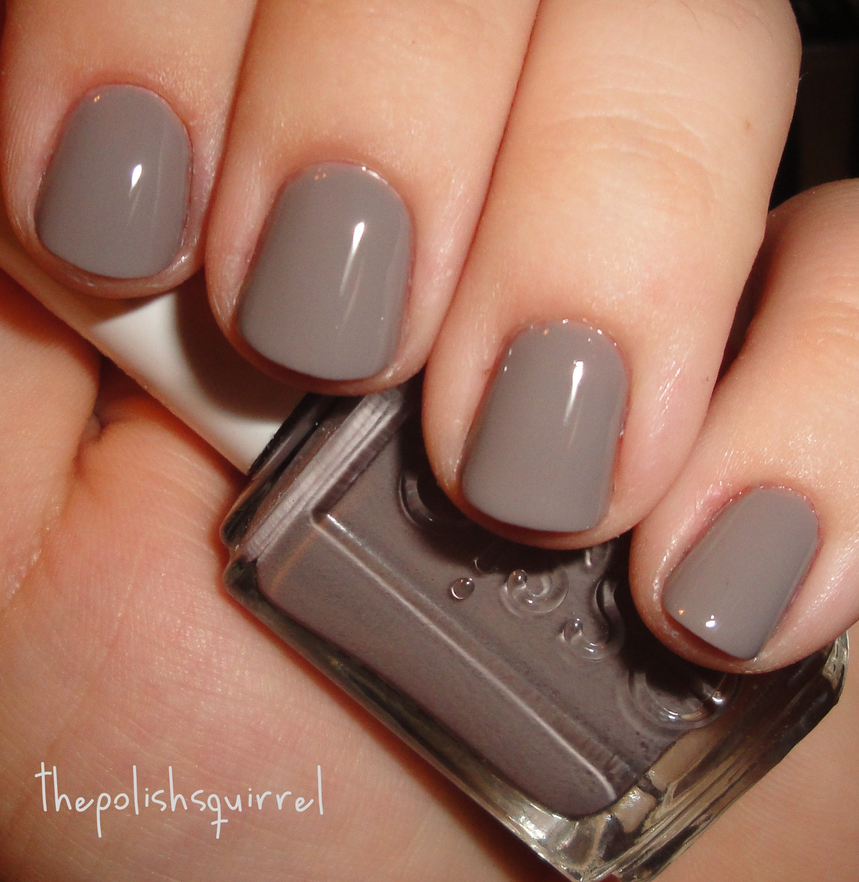Slate purple nail polish color