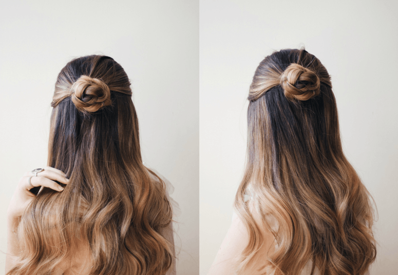 Sleek braided bun long hairdos