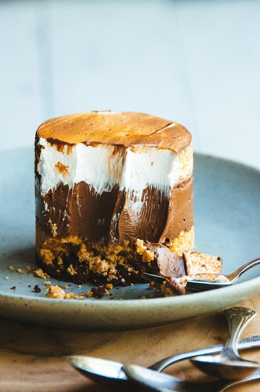 Smores custard cake