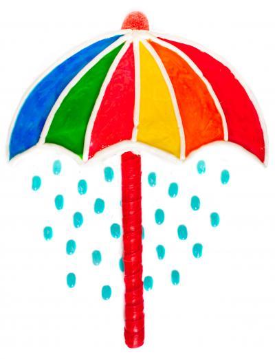Umbrella baby shower cake 0