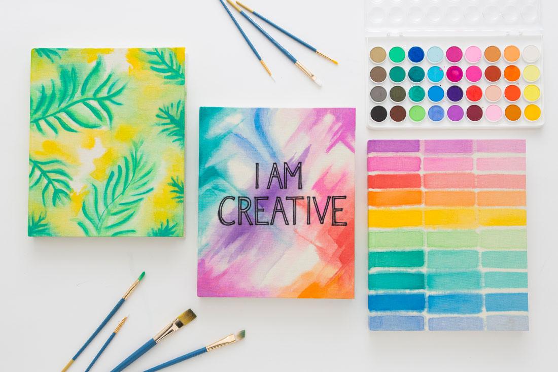 Watercolor canvas notebook