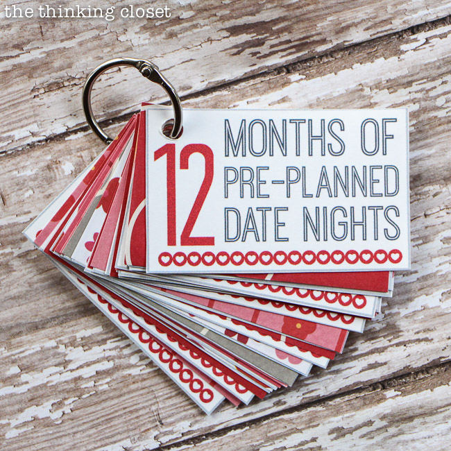 12 months of pre planned dates