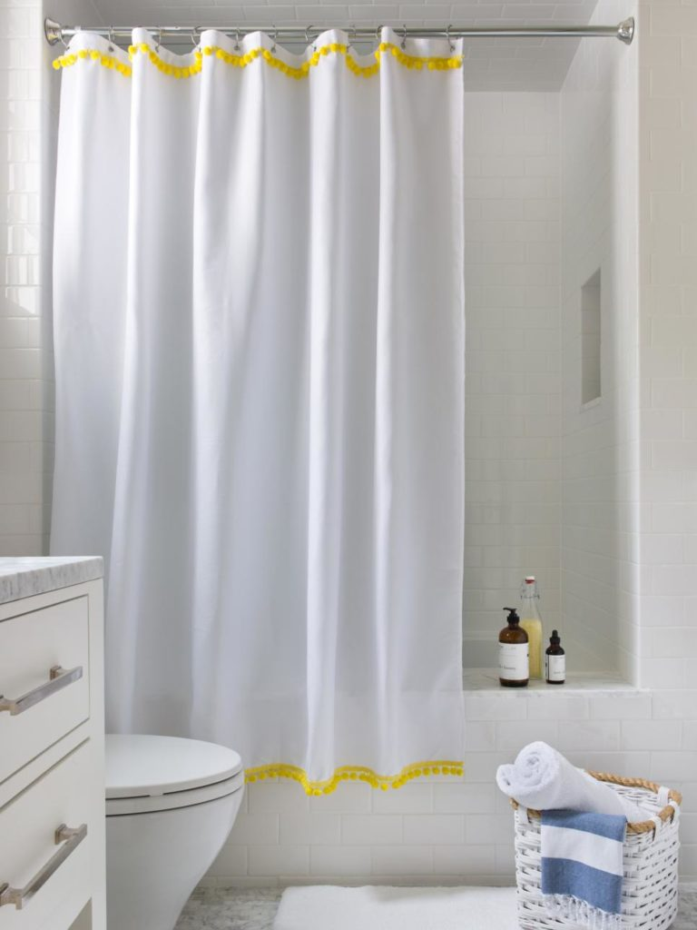 A fancier shower curtain